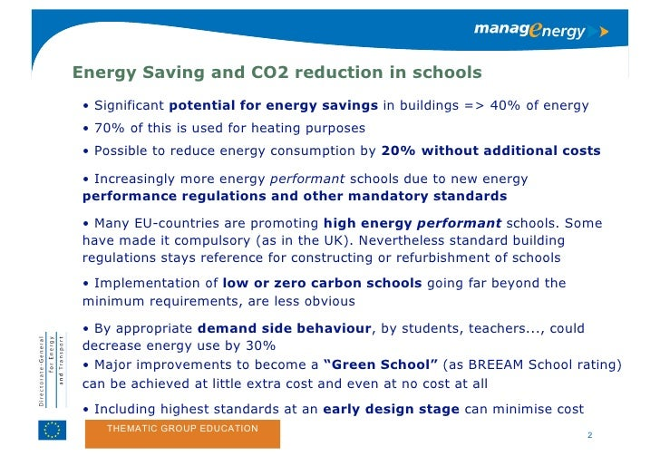 Steps to Low Carbon & (Zero-) Carbon schools and beyond