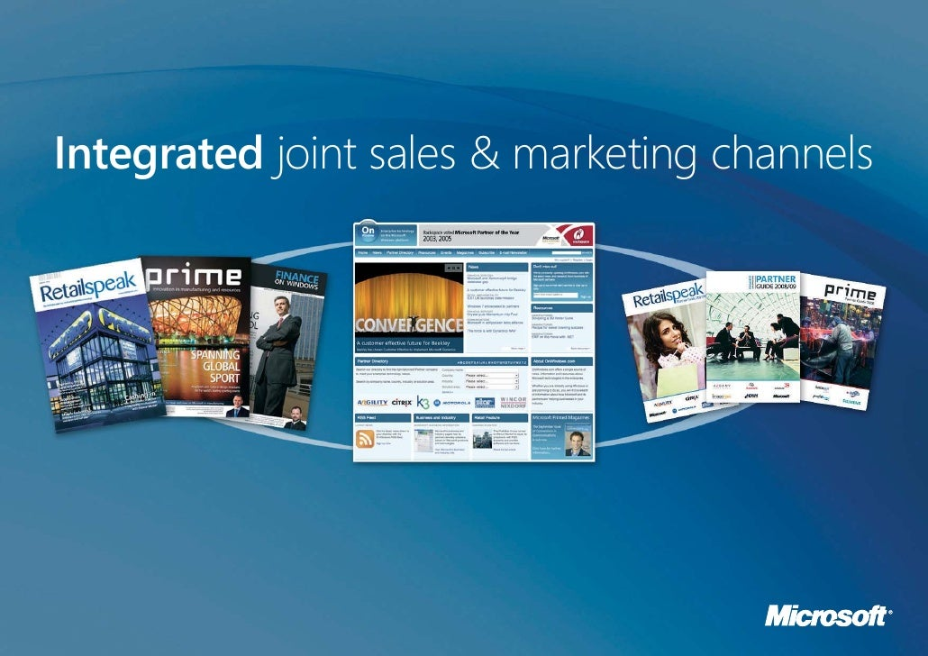 Integrated joint sales & marketing channels