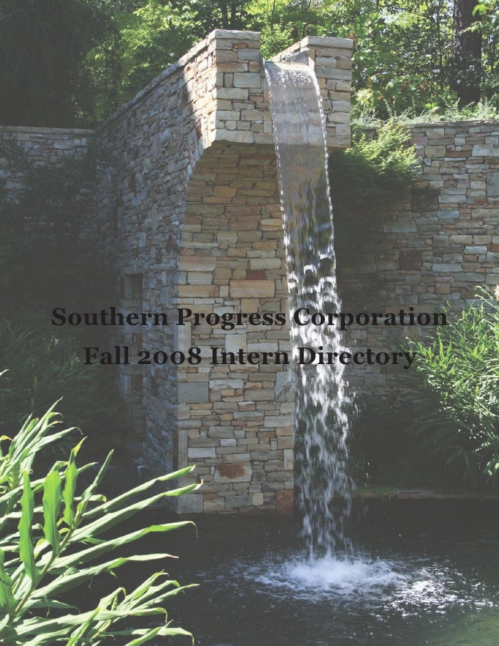 Southern Progress Corporation   Fall 2008 Intern Directory