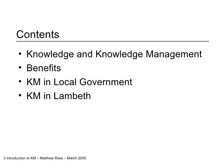 Introduction To Knowledge Management Slide 2