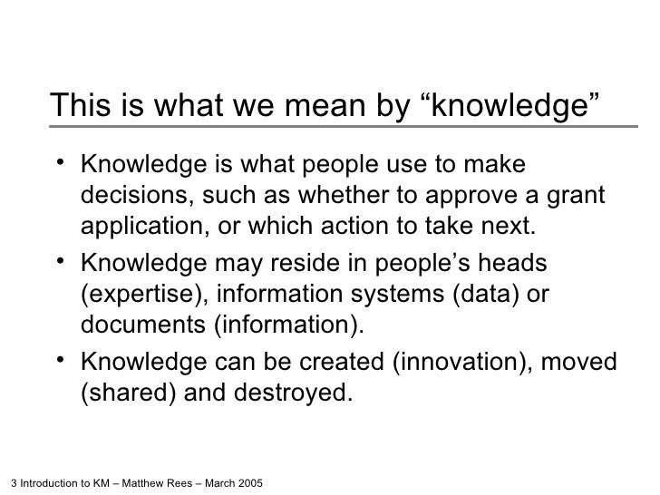 Introduction To Knowledge Management Slide 3
