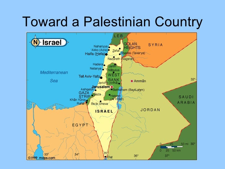Israel And Palestine World Map.Israel Palestine