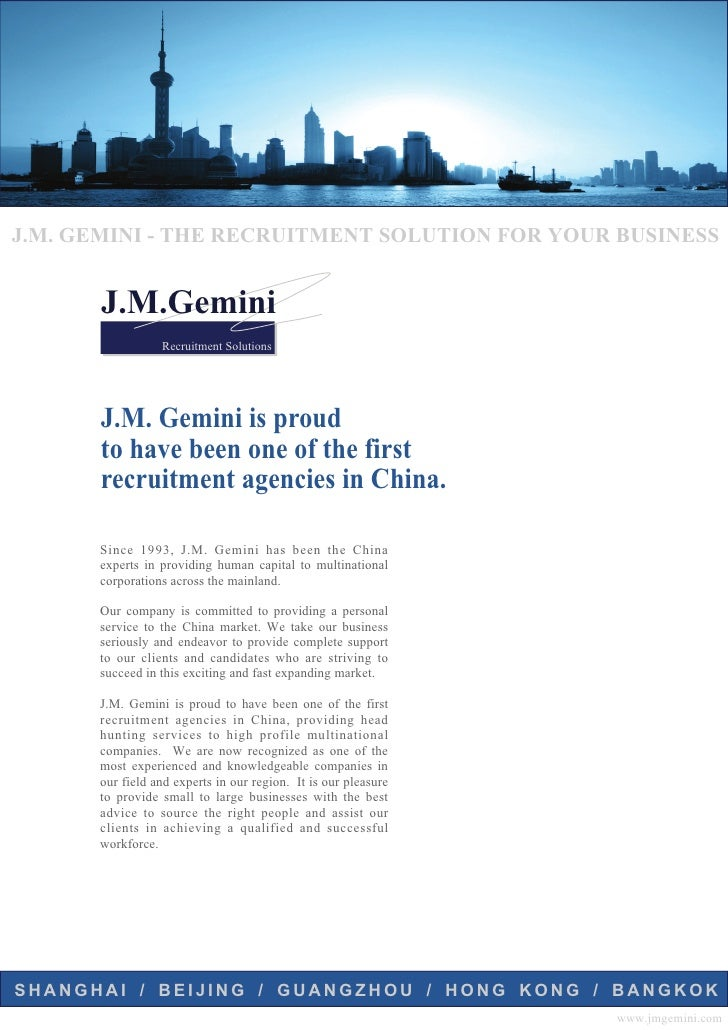 J.M. GEMINI - THE RECRUITMENT SOLUTION FOR YOUR BUSINESS          J.M.Gemini                  Recruitment Solutions       ...