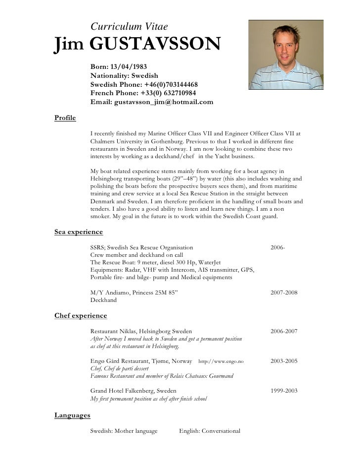 Cv resume for seaman – Ordinary Resume Format
