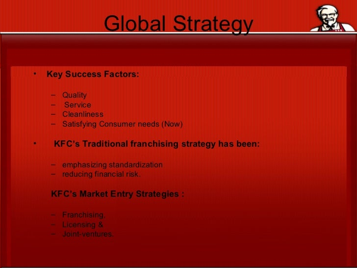 Kfc corporate strategy and food industry