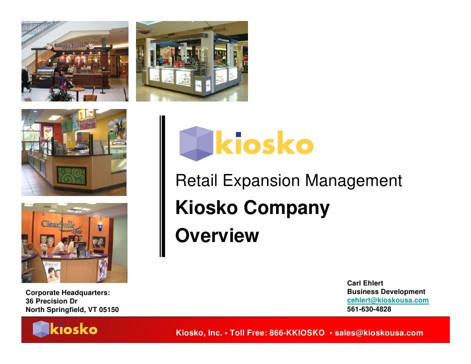 Retail Expansion Management                               Kiosko Company                               Overview           ...