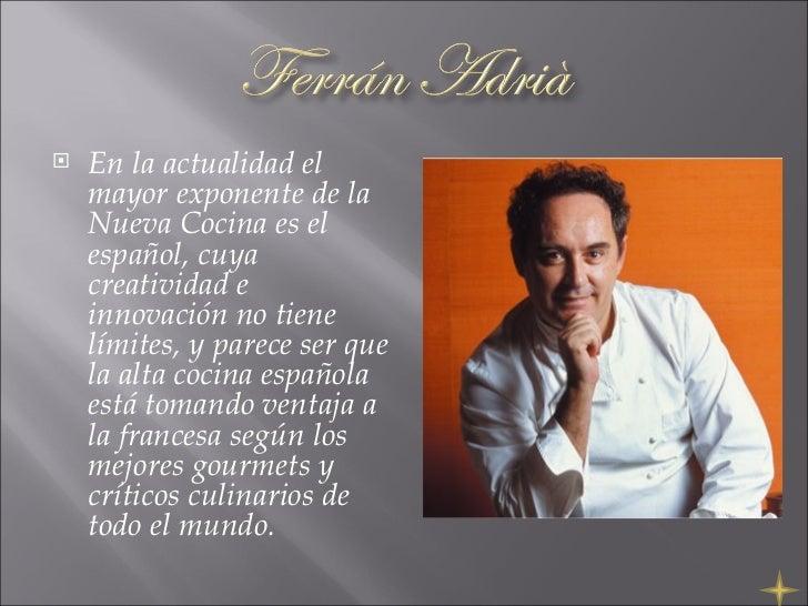 La nouvelle cuisine for Caracteristicas de la gastronomia francesa