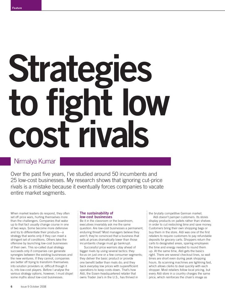 strategies to fight low cost rivals This website uses cookies to distinguish you from other users this helps us to provide you with a good user experience and also allows us to improve our website.