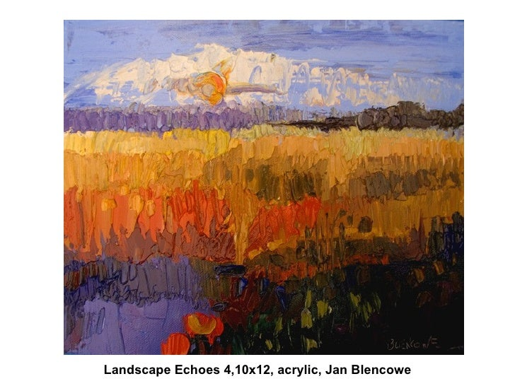 Landscape Echoes 4,10x12, acrylic, Jan Blencowe