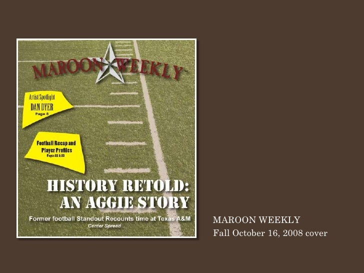 MAROON WEEKLY Fall October 16, 2008 cover