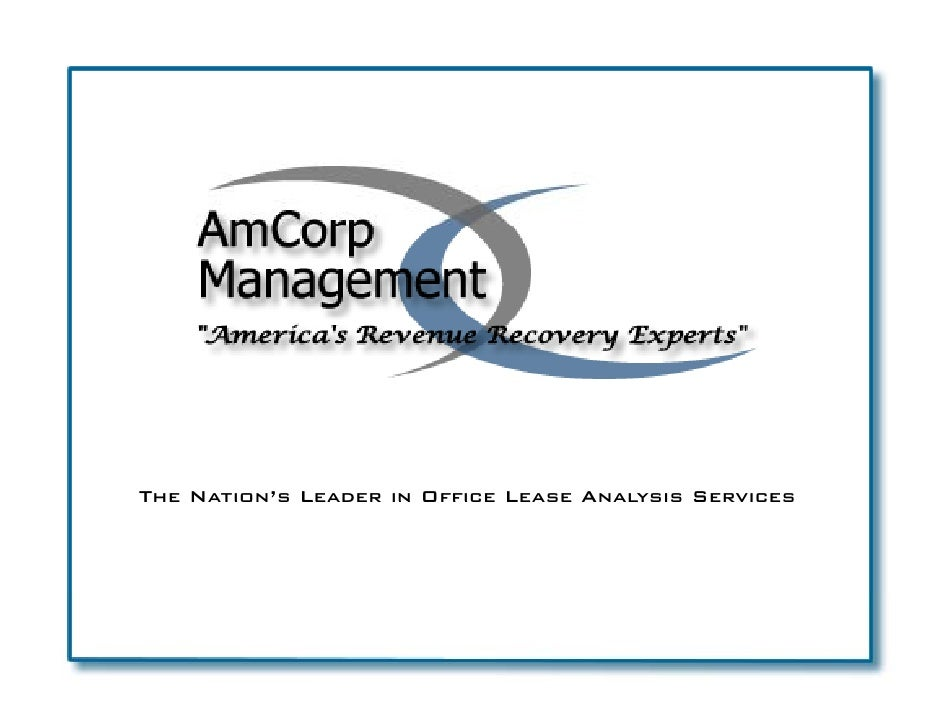The Nation's Leader in Office Lease Analysis Services     Nation s