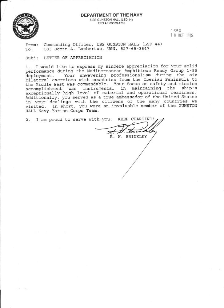 sample of a memo letter