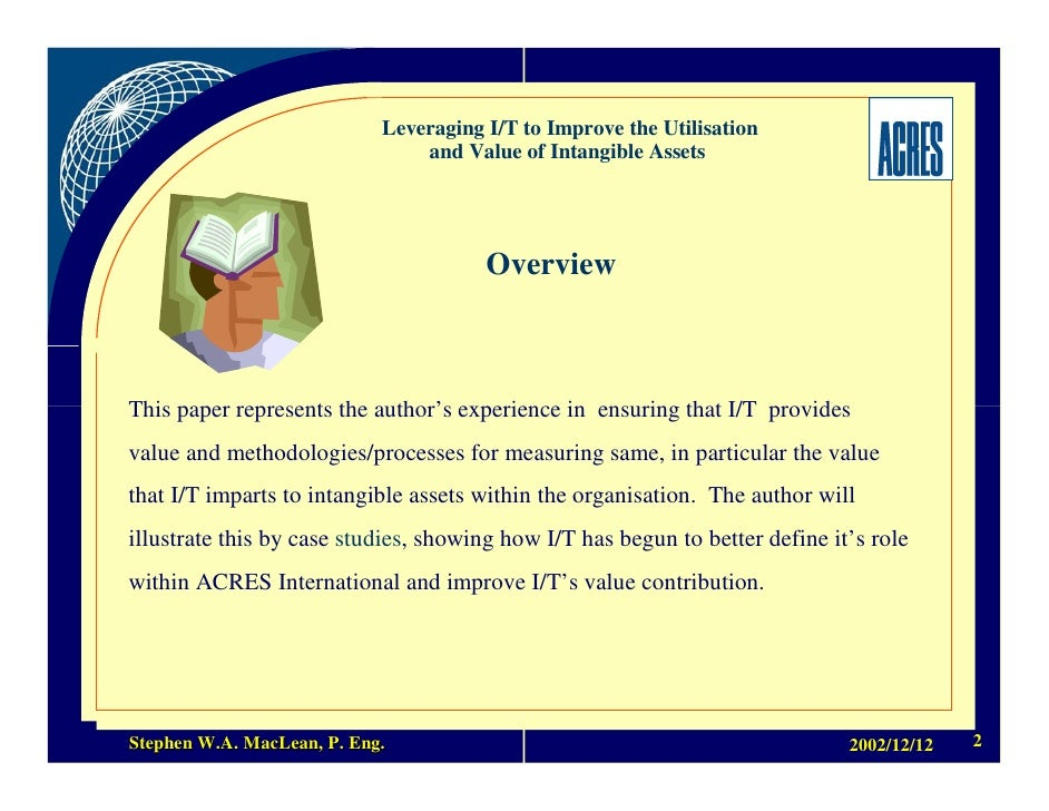 Intangible Assets Essay