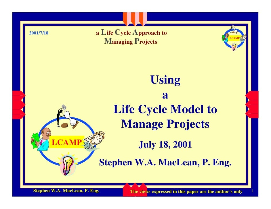 Life Cycle Approach to                             a 2001/7/18                                                            ...