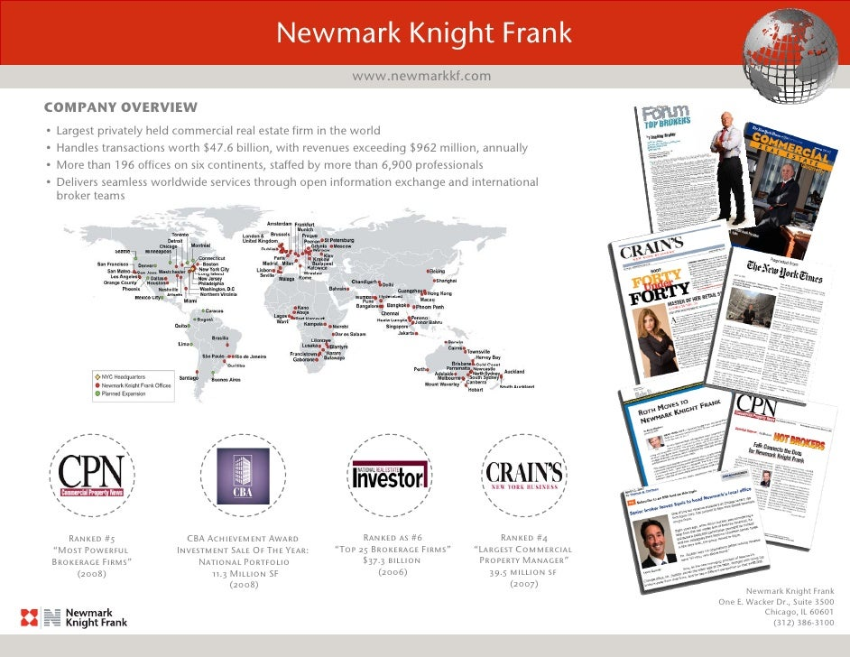 Newmark Knight Frank                                                             www.newmarkkf.com  COMPANY OVERVIEW •   L...