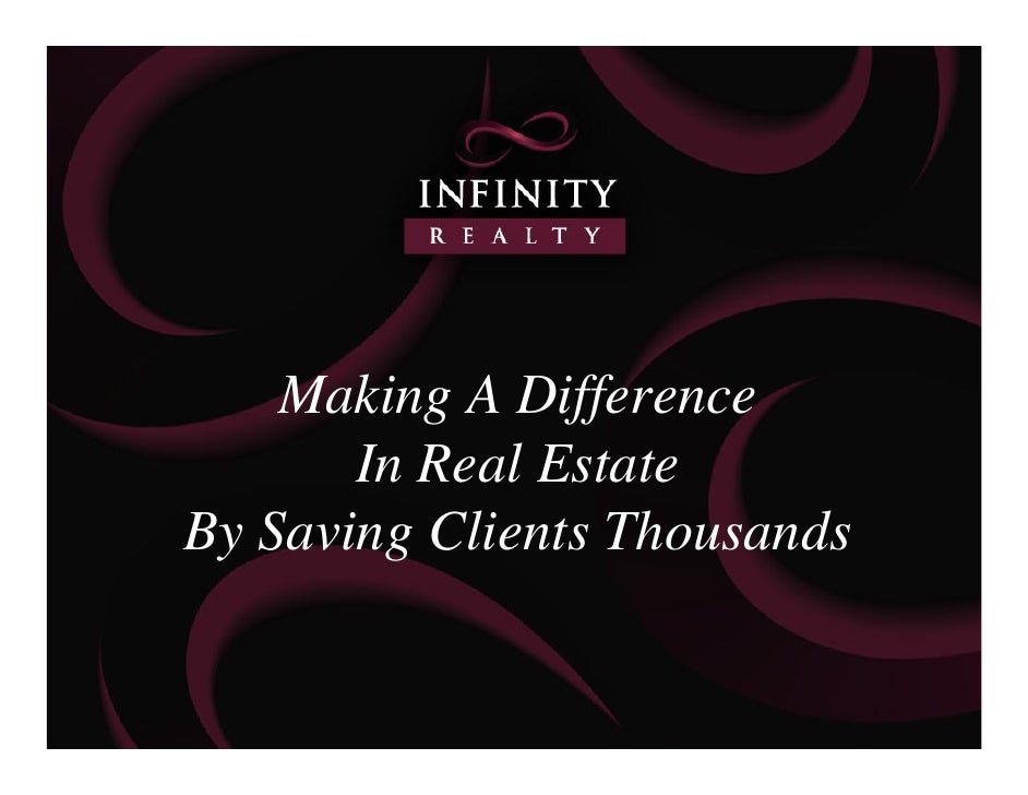 Making A Difference        In Real Estate By Saving Clients Thousands