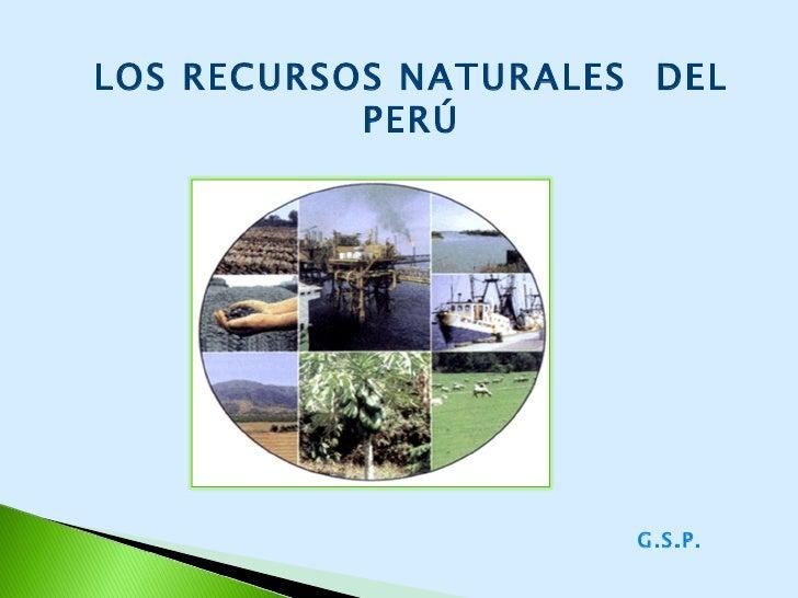 LOS RECURSOS NATURALES  DEL PERÚ G.S.P.