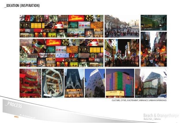 Buena Park _ California Beach & OrangethorpeM + D Development _PROCESS _IDEATION (INSPIRATION) CULTURE, CITIES, EXCITEMENT...