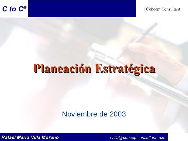 Planeación Estratégica Noviembre de 2003