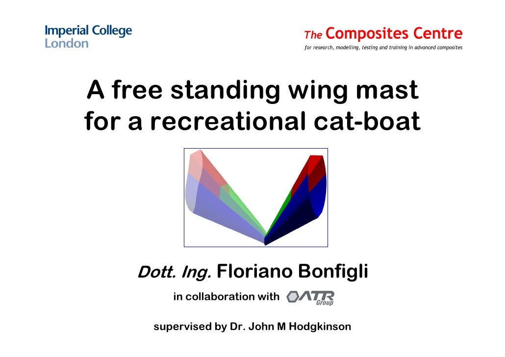 A free standing wing mast for a recreational cat-boat         Dott. Ing. Floriano Bonfigli          in collaboration with ...