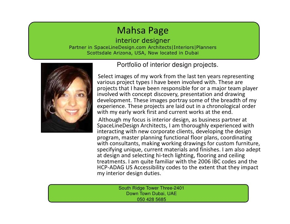Mahsa Page                   interior designer Partner in SpaceLineDesign.com Architects|Interiors|Planners        Scottsd...