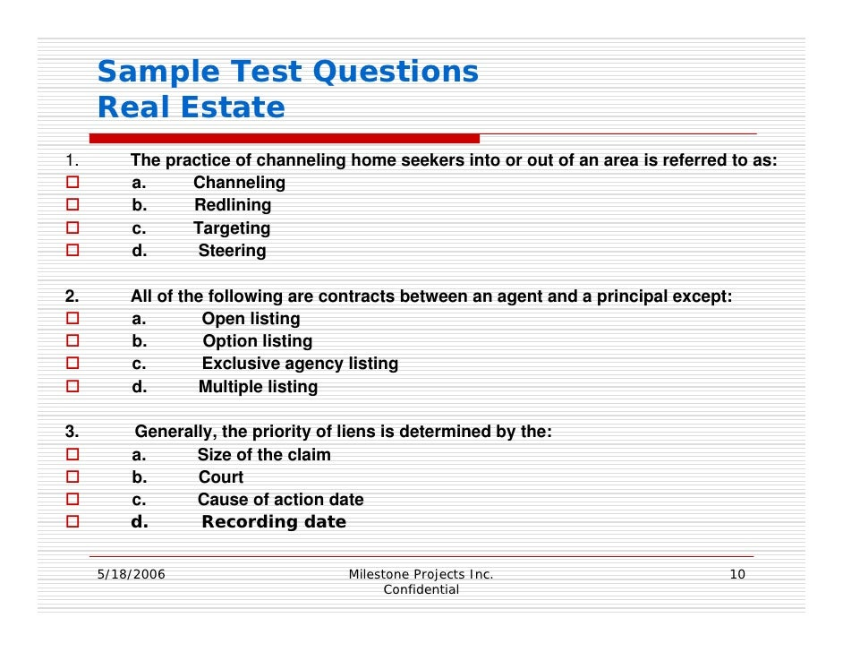 X real estate development xred questions examples - Basic