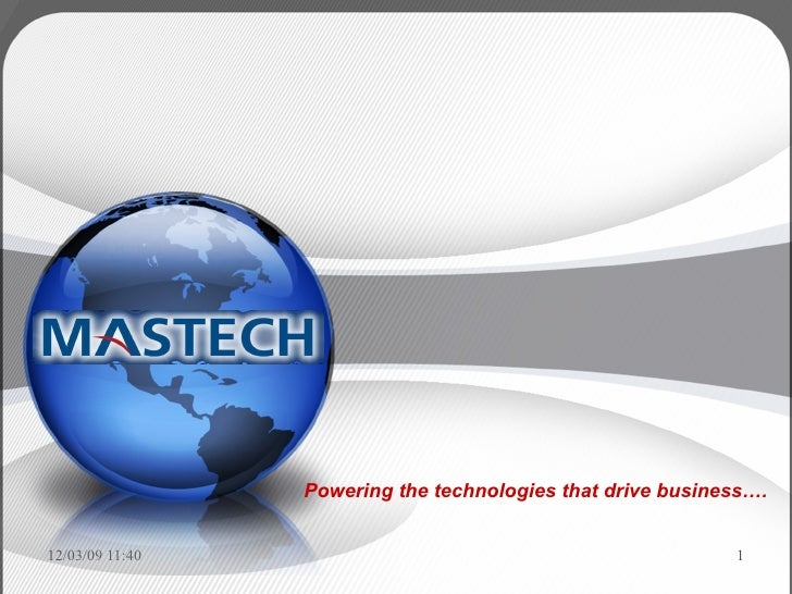 Powering the technologies that drive business….