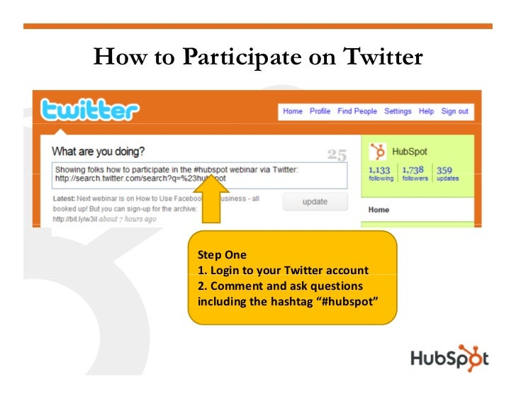 How to Participate on Twitter              StepOne          1.LogintoyourTwitteraccount               g      y      ...