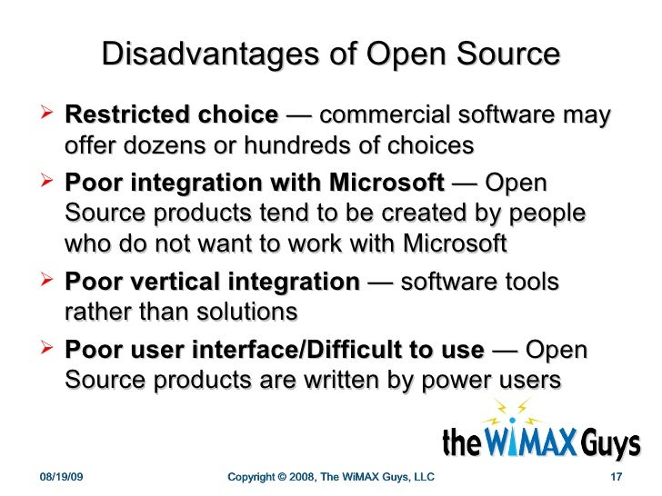 the advantages of open source software What are the advantages and disadvantages of proprietary software a: one key advantage of proprietary software is whereas traditional or open-source software.