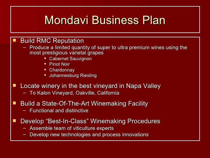 strategy for mondavi Search wine jobs job category: zip (us): radius from zip: key  c mondavi and family/ charles krug saint helena, ca 06/11 grounds worker rombauer vineyards.