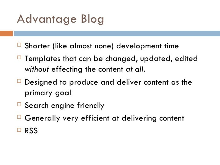 Why Blogs Are Better Slide 3