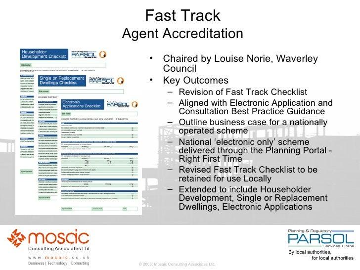 Fast Track Agent Accreditation <ul><li>Chaired by Louise Norie, Waverley Council </li></ul><ul><li>Key Outcomes </li></ul>...