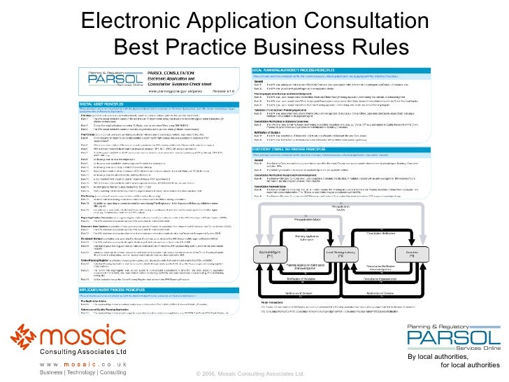 Electronic Application Consultation   Best Practice Business Rules