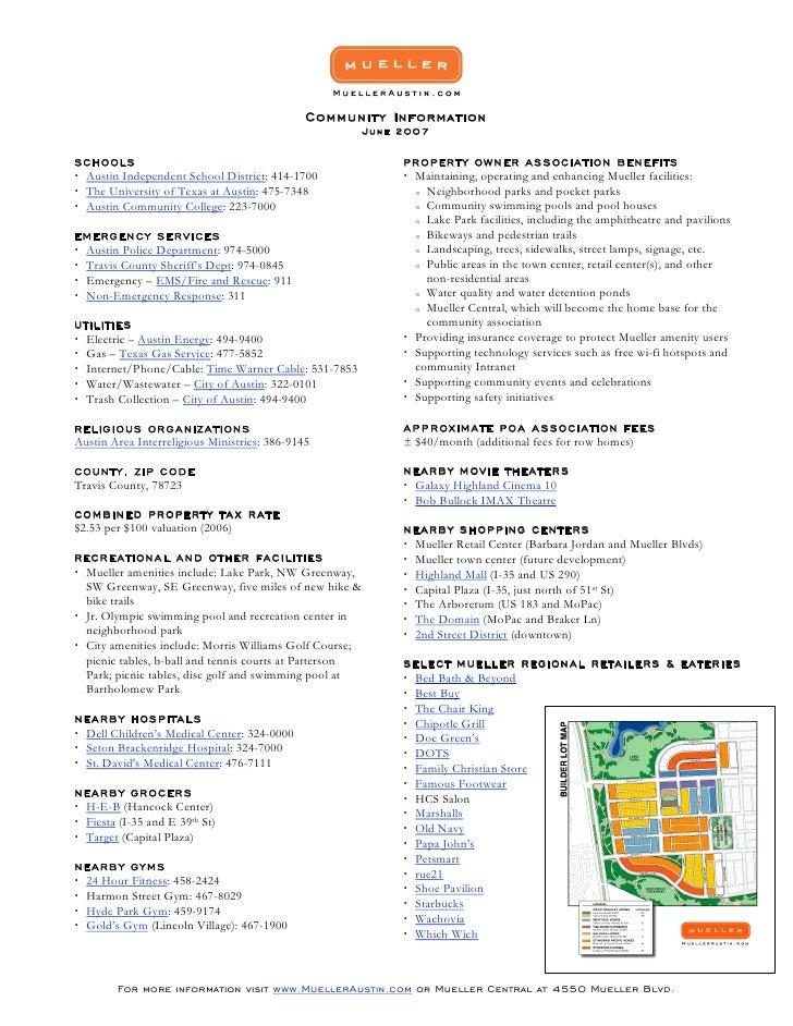 Community Information                                                          June 2007  SCH OOLS                        ...
