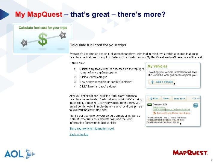 My MapQuest - Mapquest distance
