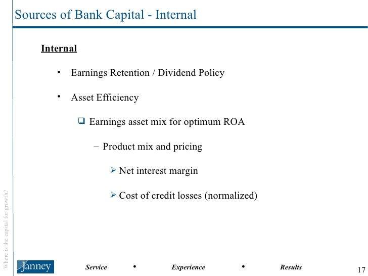 <ul><li>Internal </li></ul><ul><ul><li>Earnings Retention / Dividend Policy </li></ul></ul><ul><ul><li>Asset Efficiency </...