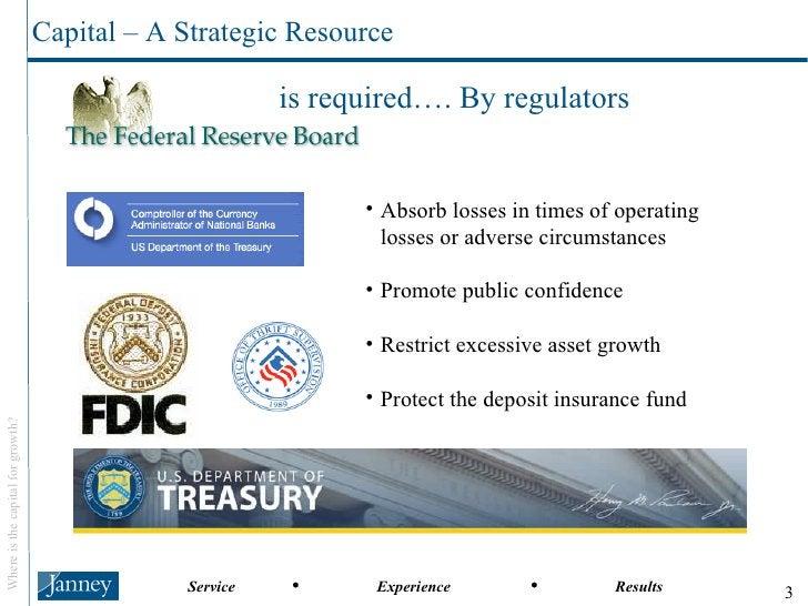 Capital – A Strategic Resource <ul><li>Absorb losses in times of operating losses or adverse circumstances </li></ul><ul><...