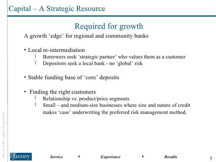 <ul><li>A growth 'edge' for regional and community banks </li></ul><ul><li>Local re-intermediation </li></ul><ul><ul><li>B...