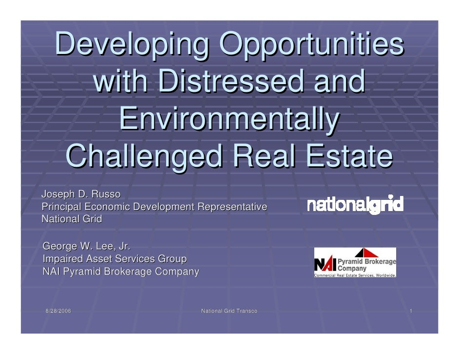 Developing Opportunities     with Distressed and       Environmentally   Challenged Real Estate Joseph D. Russo Principal ...