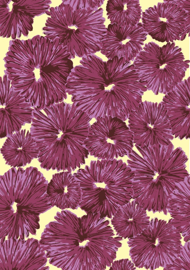 retro flower print