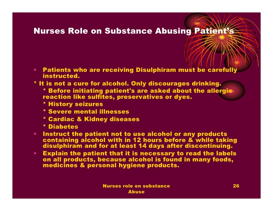 nurses role in substance abuse The importance of substance abuse education the main focus of substance abuse  if you are preparing to teach a substance abuse education  role in drug abuse.
