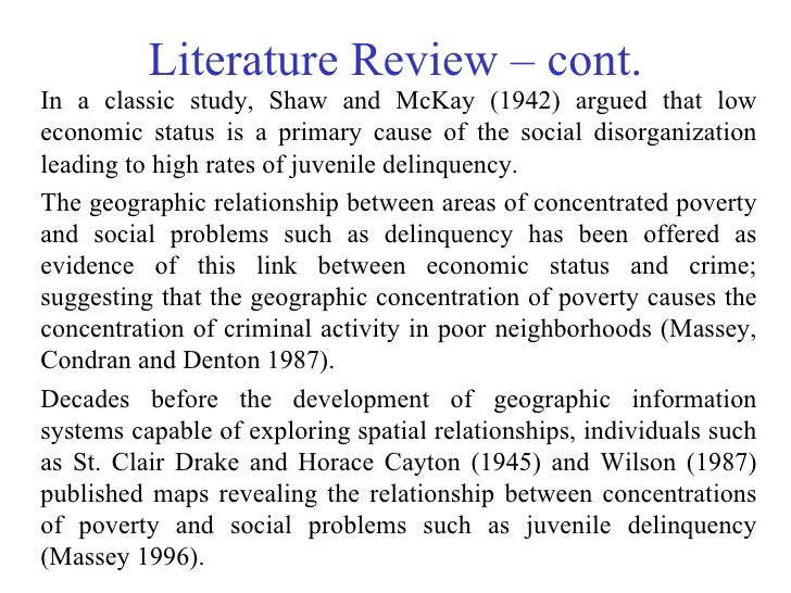 review of related literature on juvenile delinquency Literature review juvenile delinquency for this assignment you are to write a brief four-page literature review, but not to exceed five pages, on a.