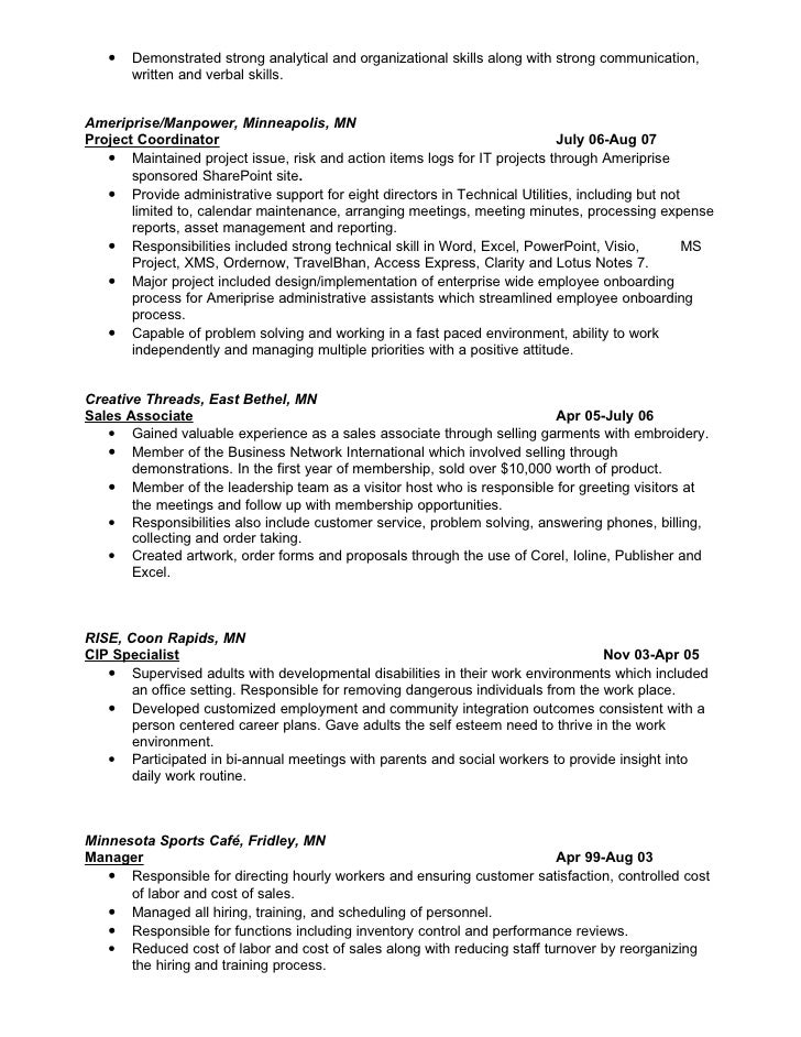 related post of communication and organizational skills resume