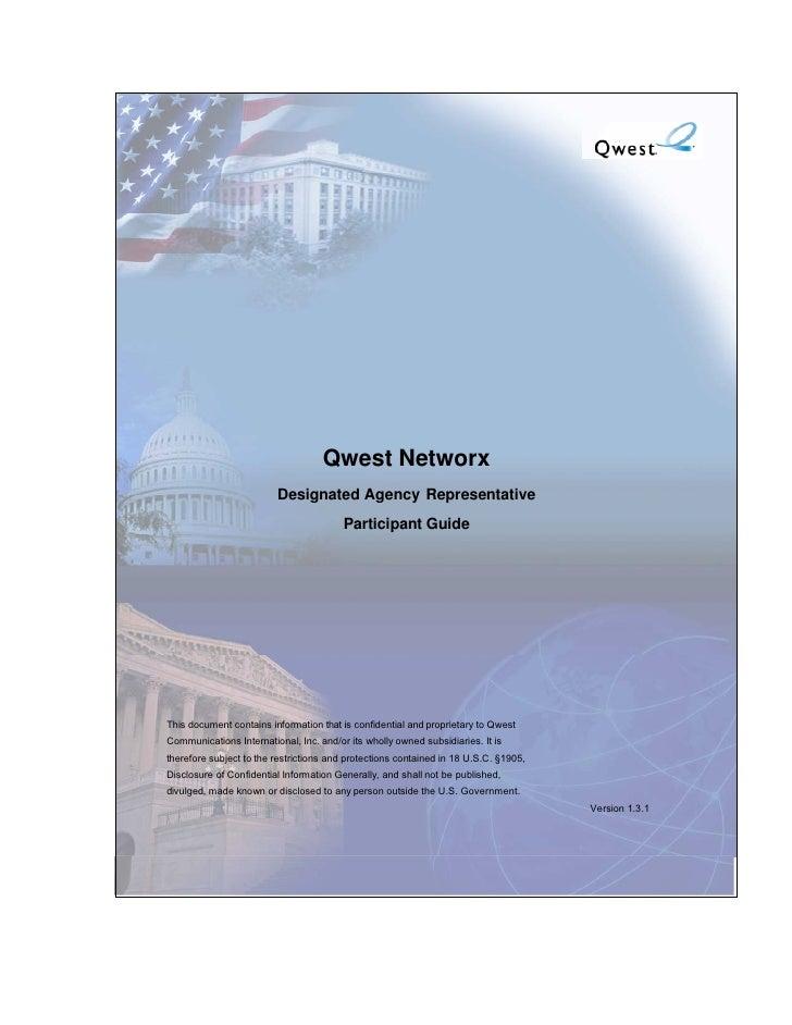 Qwest Networx                          Designated Agency Representative                                          Participa...