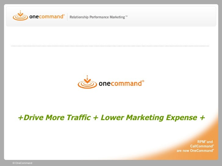 +Drive More Traffic + Lower Marketing Expense +