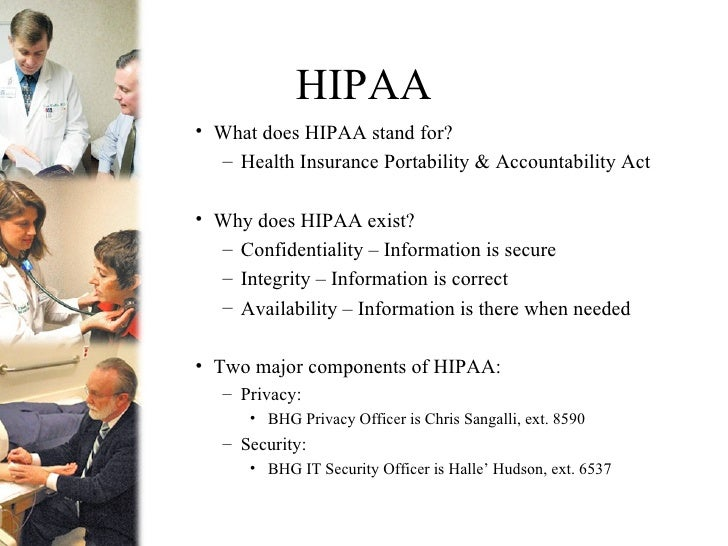 what does hipaa stand for privacy