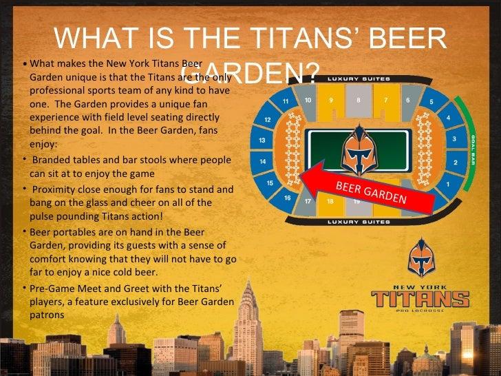 New York Titans 2009 Sponsorship Proposal Beer Garden