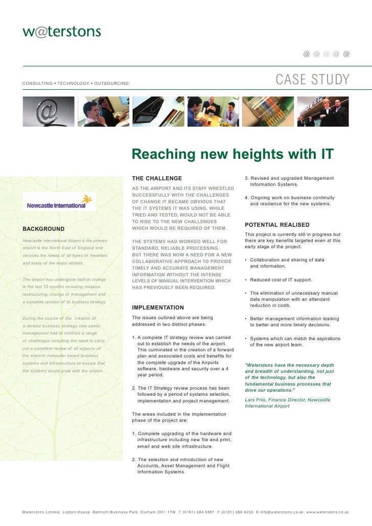CASE STUDY CONSULTING • TECHNOLOGY • OUTSOURCING                                                      Reaching new heights...