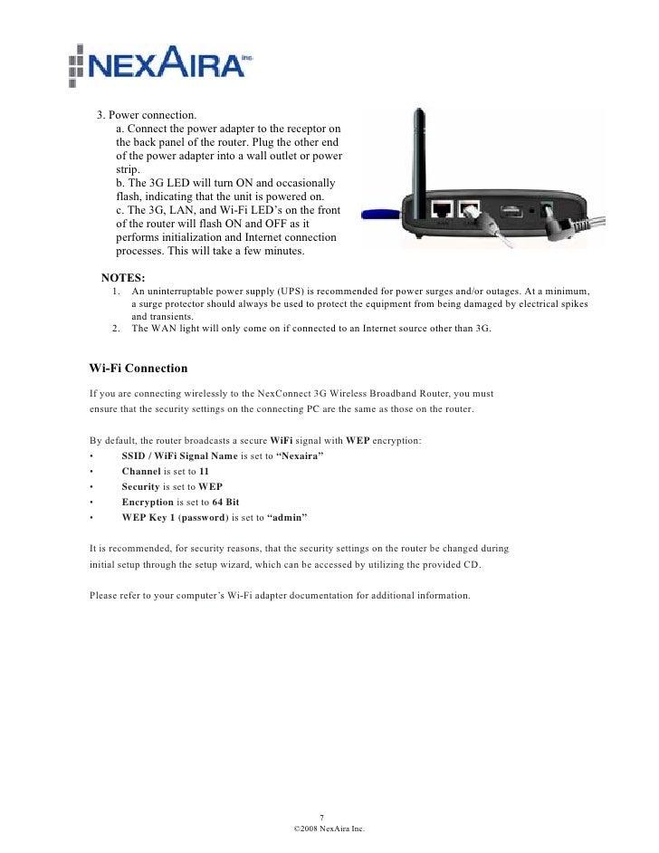 Nexaira Nexconnect Router User Guide (quantum-wireless com)