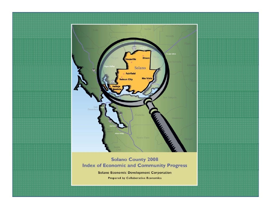 WHAT IS AN INDEX?                   WHAT IS AN INDEX? The Solano County Index tells a story through  The Solano County Ind...